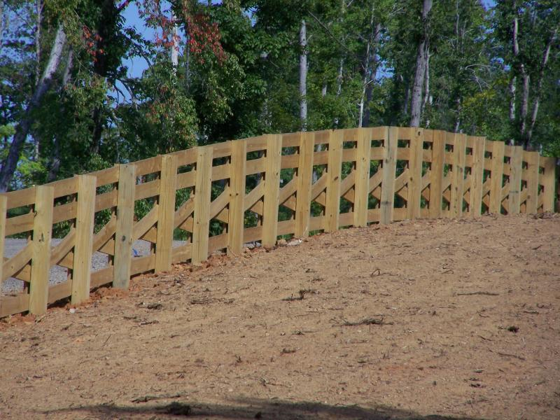 Crossbuck Wood Fence